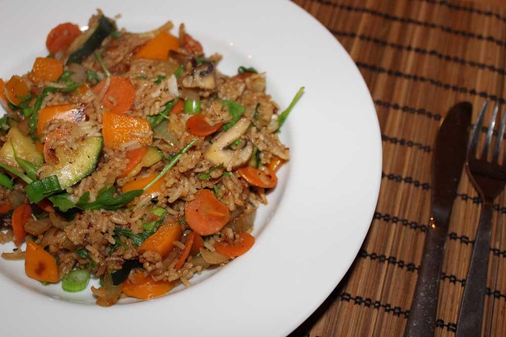 Fried Rice Rezept mit Gemüse