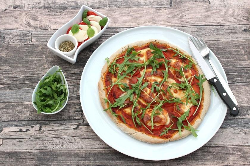 Rezept für glutunfreie Buchweizenpizza