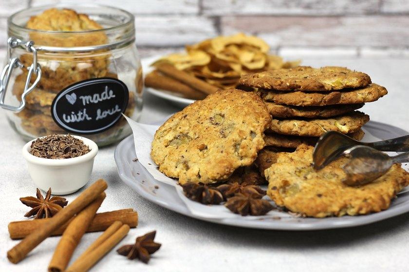 Apfel Zimt Cookies vegan