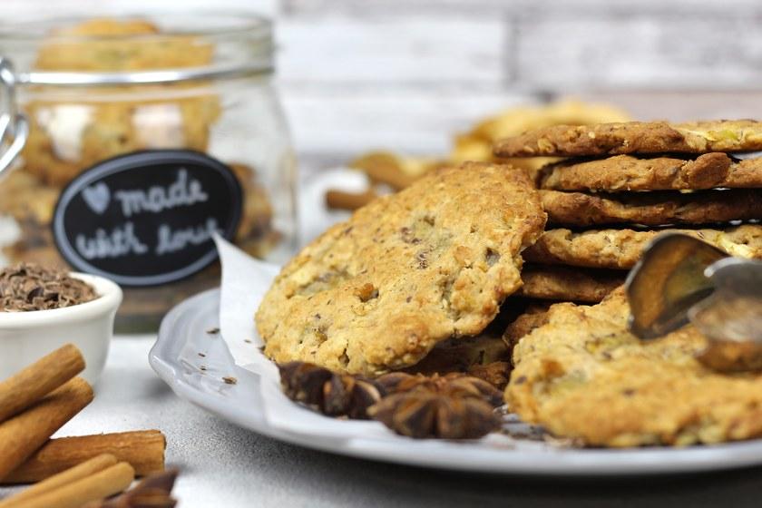 vegane Vollkorn Cookies zuckerfrei
