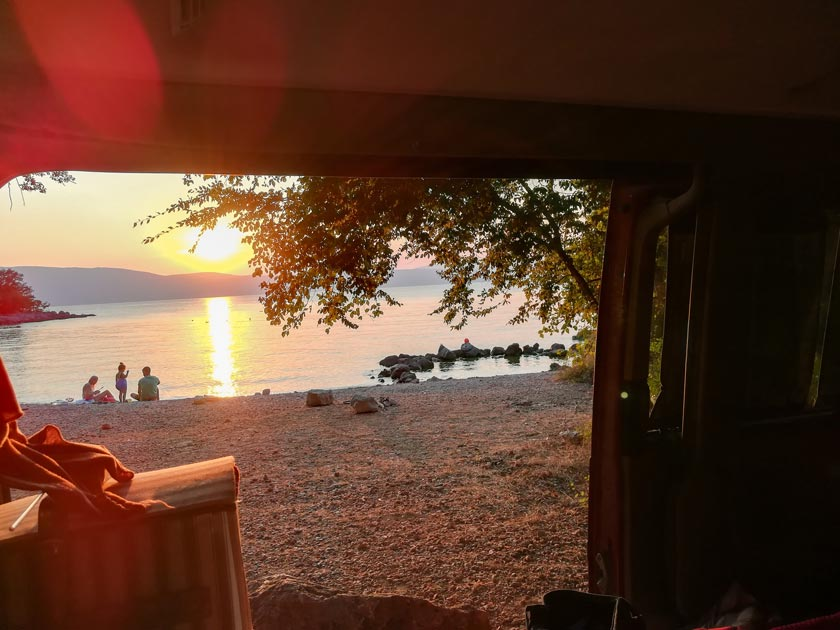 Reisebericht mit dem Bulli in Kroatien - camping Insel Krk