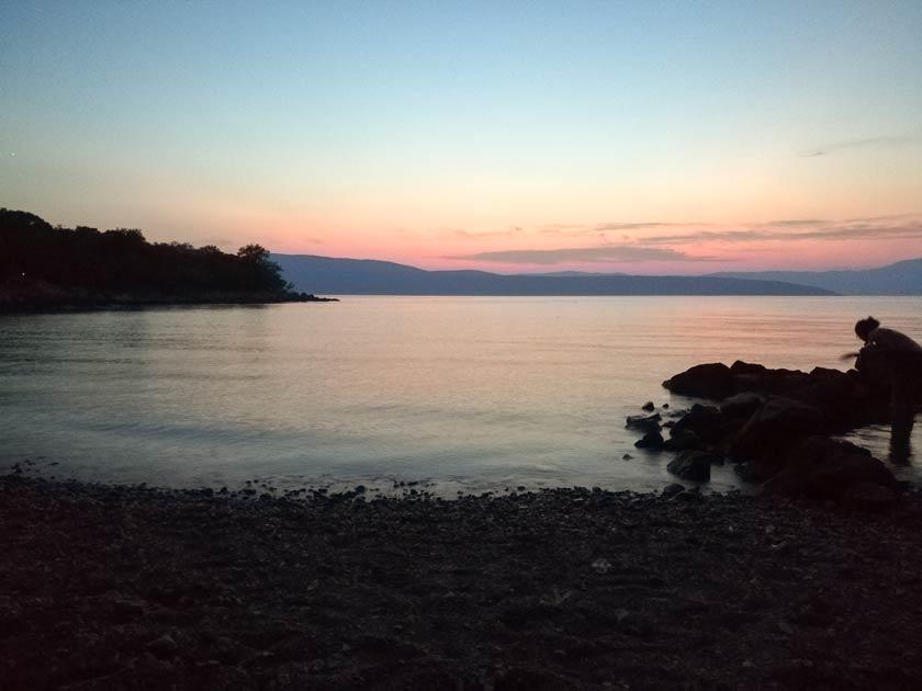 Einsame Bucht auf Krk