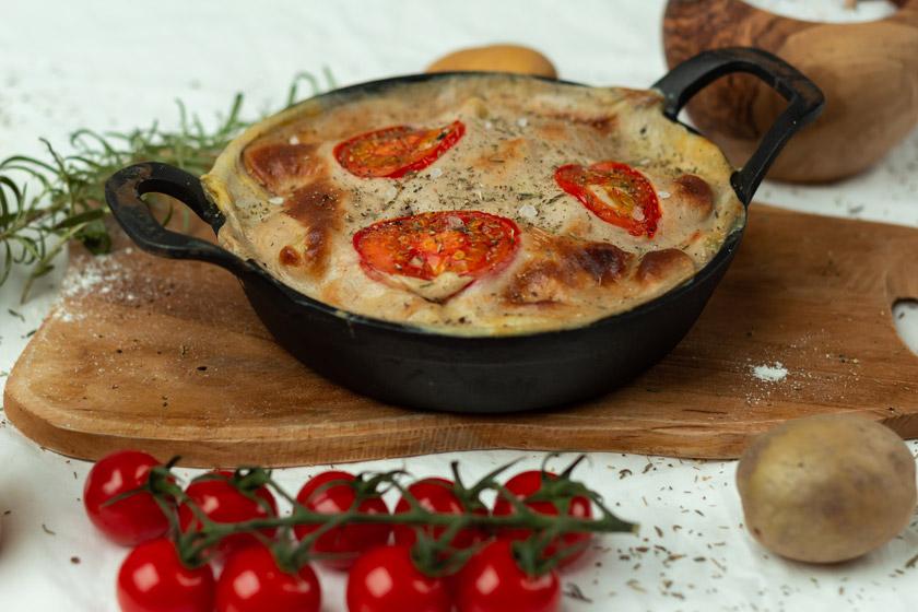 Gnocchi Auflauf vegan mit Käse