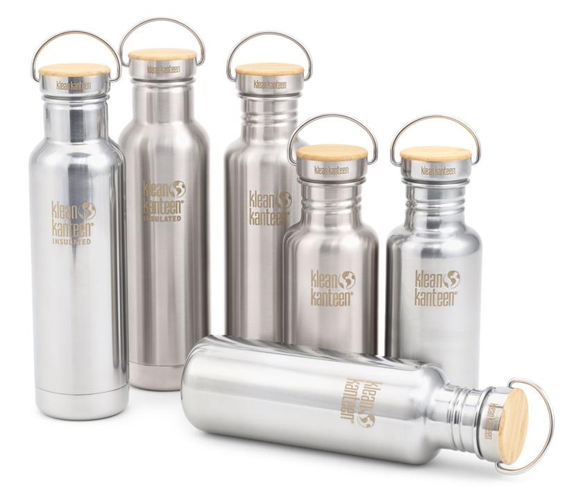 umweltfreundliche Trinkflaschen - Edelstahlflaschen von Klean Kanteen