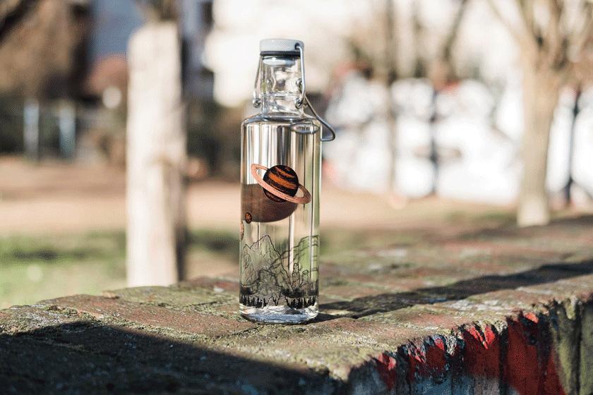 soulbottles nachhaltige Glasflasche zum wieder befüllen