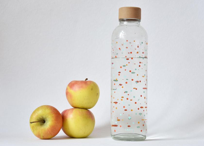 umweltfreundliche Trinkflasche aus Glas