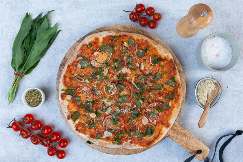 Bärlauch Rezept für Pizza vegan