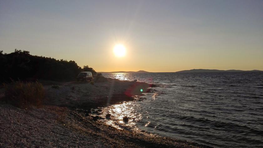 Abgelegene Bucht auf Cres - Mit dem Bulli in Kroatien