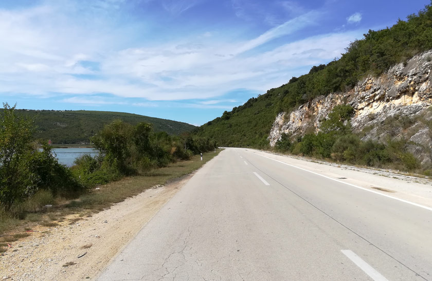 Küstenstraße in Kroatien