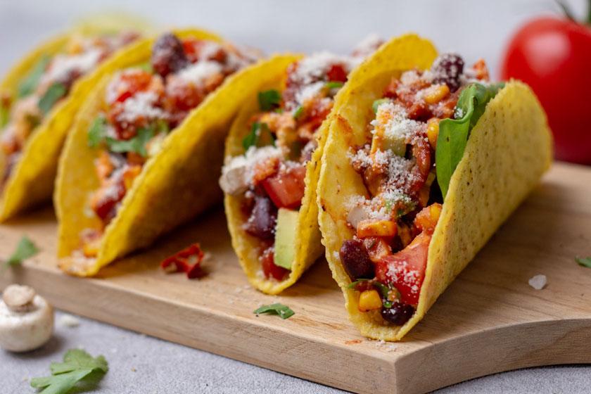 Rezept für schnelle vegane Tacos