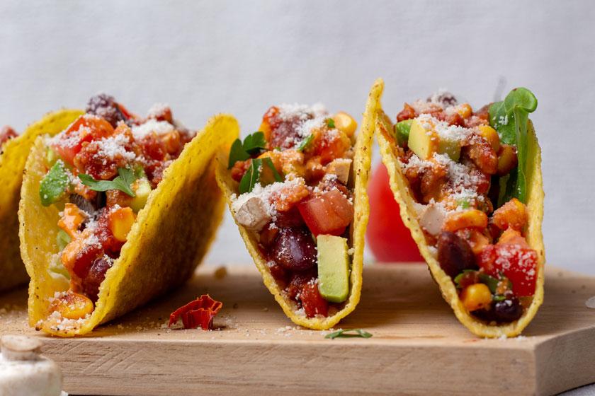 Tacos mit veganem Hackfleisch