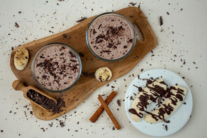 Schoko Bananen Creme veganes Dessert - purelimon