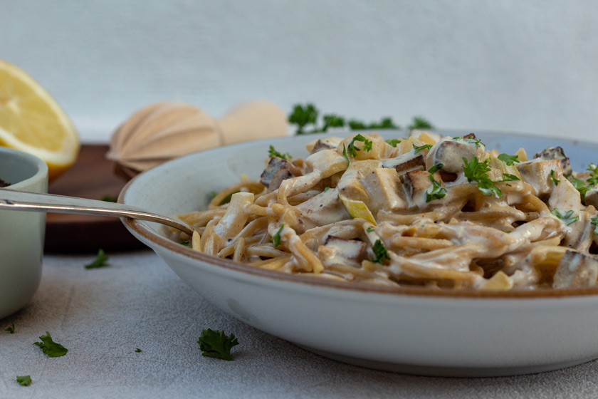 Spaghetti Carbonara vegan - purelimon