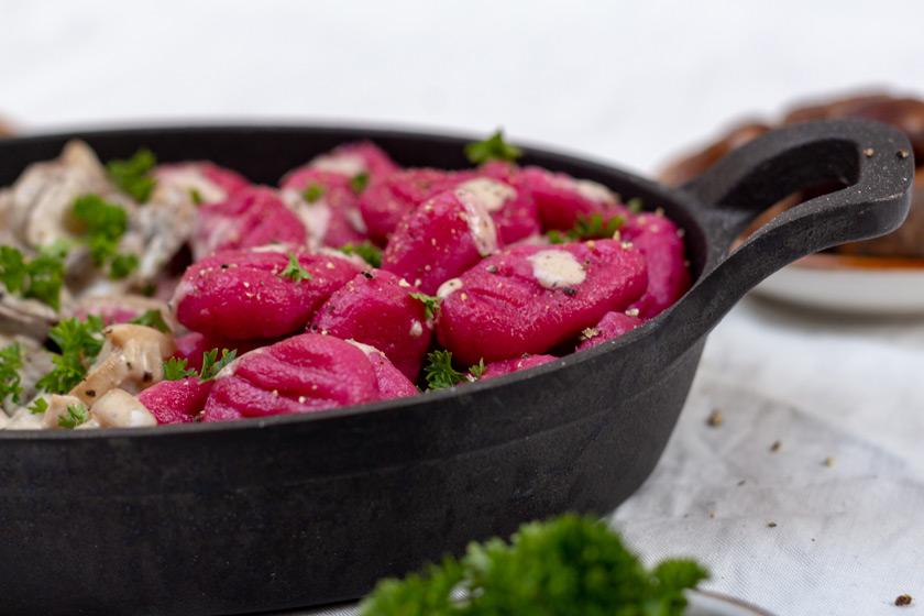 Rote Bete Gnocchi vegan - purelimon