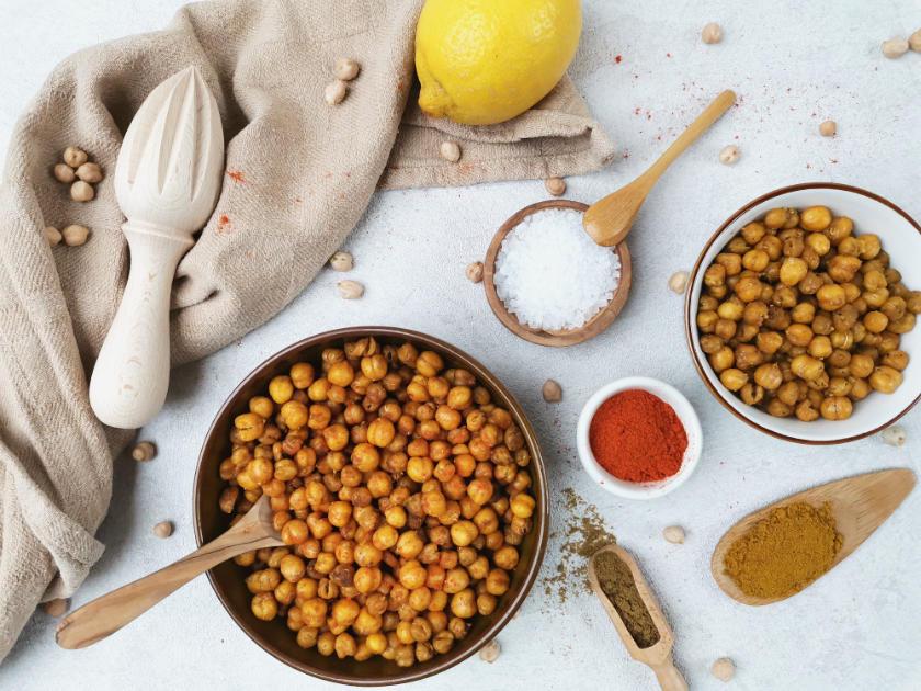 Im Ofen geröstete Kichererbsen - veganer Snack - purelimon