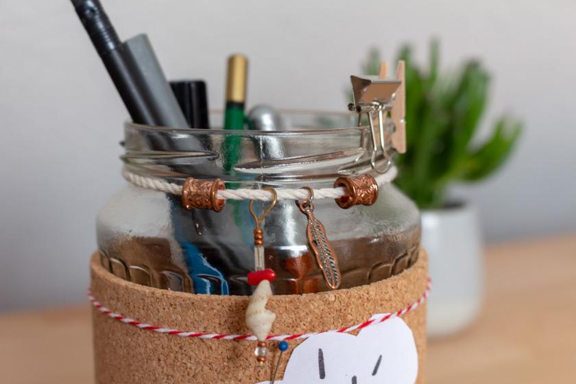 DIY Idee Stiftehalter basteln