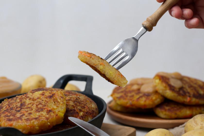 vegane Kartoffelrösti selbst gemacht - purelimon