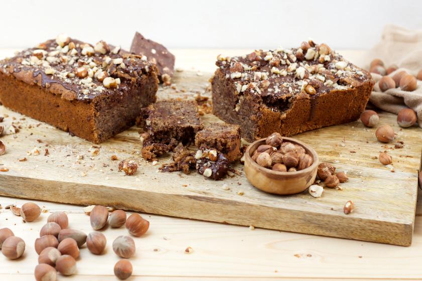 schneller und einfacher Haselnusskuchen vegan - purelimon