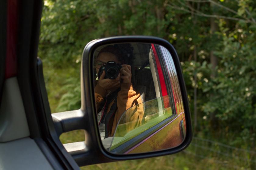 Abschlussfoto in den Außenspiegel - purelimon