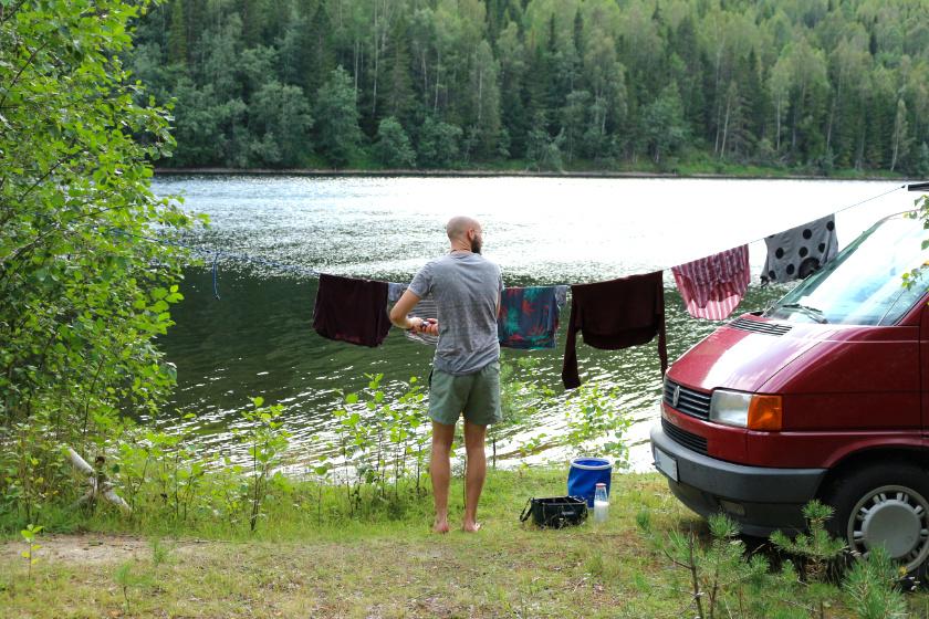 Wäsche waschen - Reisebericht Schweden - purelimon