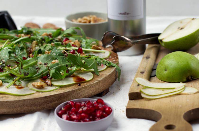 veganes Carpaccio Rezept mit Walnussöl